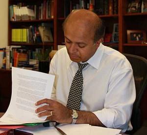 Abraham at desk