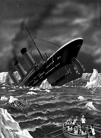 Titanic Ship Sinking Real