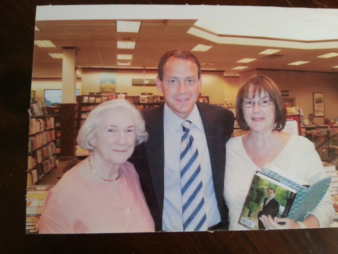 Author with booksellers